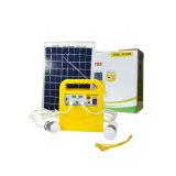 Sistema de iluminación solar con la radio y la salida del USB