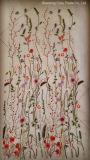 2017hot moda florece la tela del bordado de la mariposa para el paño de la mujer