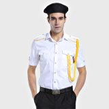 65% polyester 35% Coton T-Shirt blanc bon marché uniforme de sécurité