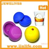Silicona silicona ice maker, bandeja de cubitos de hielo, la bola de silicona forma de cubo de hielo (H02-028)
