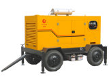 Le type mobile industriel refroidi à l'eau CE des roues 50kw Cummins de début électrique 4 a approuvé le générateur diesel (PFC63T)