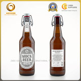 Große Farben-Schwingen-Schutzkappen-Bier-Glasflasche der Kapazitäts-500ml bernsteinfarbige (800)