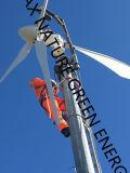 il sistema della turbina di vento 5k con i 10m libera la torretta del basamento installata in Europa