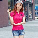 Guangzhou Haute qualité été décontracté Style Polo personnalisé pour femme