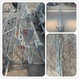 Tour de transmission de mât de type d'antenne d'acier doux de Custommized Q235 d'usine