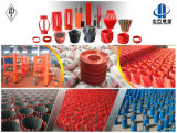 API 10d Espiral Vane Steel Solid Rigid Casing Centralizer / Oilfield Cementing Equipment