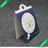 Etiqueta de papel plegable de encargo de la caída de las medias