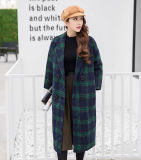 London Loose Long Plaid Coat para la ropa de las mujeres