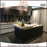 N & l 2017 сползая мебель кухни лака Countertop стеклянная
