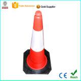 Cone de tráfego de crepe de plástico de 1m com base de borracha