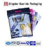 Custom Transparent Plastic Zipper Apparel Sac de conditionnement d'habillement