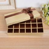 Rectángulo de papel del chocolate de encargo hecho a mano de calidad superior de la impresión