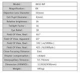 8x32 Prismáticos al aire libre táctico/computadora de mano para el Golf Cl3-0057 Monocular