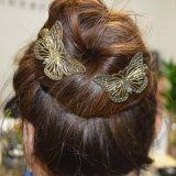 De Toebehoren van de haarspeld van Afgietsel met Holle uit Vlinder in Goud worden gemaakt dat
