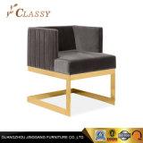 Удобная мебель черной бархатной обивкой обеденный стул