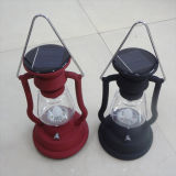 Solar retro lámpara de linterna de camping con diseño de la lámpara de queroseno