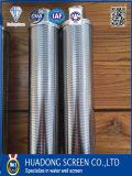Pantalla de alambre de cuña Ss316L con redondez perfecta / tubo de ranura redondo puro