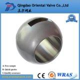 低価格1/2 304のステンレス鋼の球、ワームギヤ球弁