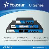 Modos customizáveis FXO, FXS, Bri, GSM e UMTS VoIP Hybrid PBX