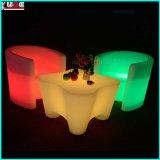 원격 제어를 가진 LED 테이블 그리고 의자를 바꾸는 재충전용 색깔