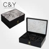 متأخّر تصميم أسود خشبيّة عطر صندوق مع يطبع أعلى أكريليكيّ