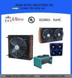 Kundenspezifischer Kühlraum-kupfernes Gefäß-Flosse-Ring-Verdampfer