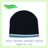 Sombrero promocional blanco del Knit de la gorrita tejida del invierno del telar jacquar