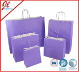 Handle를 가진 Pruple Paper Craft Bags