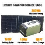 Caricatore solare 400W di energia solare della centrale elettrica solare portatile del generatore