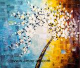 Pitture a olio Handmade della tela di canapa dell'albero del fiore per la decorazione della parete
