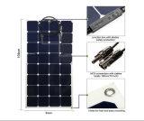 Panneau solaire semi flexible des cellules 100W de Sunpower pour la maison de bateau