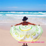 Полотенце пляжа круга хлопка круглое с уравновешиваниями Tassel в оптовой продаже