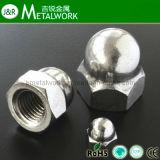 La norme DIN1587 Le dôme de l'écrou hexagonal en acier inoxydable