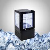 Refrigerador de vidro limpo comercial pequeno em preto ou cor especial