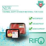 Matériau d'autocollant imprimable de code thermique pour étiquettes de supermarché