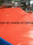 Strato blu/arancione Finished della tela incatramata del PE, tela incatramata del coperchio del camion