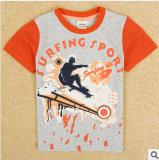 En pur coton rendent les enfants sans doublure supérieure de commerce extérieur du vêtement Vêtements pour enfants Han Edition Boy's T-shirt col rond du garçon T-Shirt à manches courtes