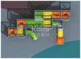 Kaiqi Spielplatz-Gerätholla-Wand kombinierte Plättchen mit den interessanten und Challanging Aktivitäten
