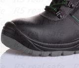 Het vlotte Midden van het Leer sneed de Schoenen van het Werk van de Schoenen van de Veiligheid (SNF5249)