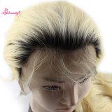 волос Remy высокого качества 1b/613 парик объемной волны шнурка индийских полный