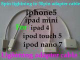 La foudre 8 broches pour câble adaptateur 30 broches pour iPhone5/L'iPad4 Mini/iPad/iPod Nano7/iPod touch5 à l'iPhone iPhone45 le câble adaptateur