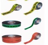 地下工場供給地下ケーブルの警告テープ