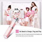 Hot Luxury Lipstick Handle Selfie Stick Monopod para celular