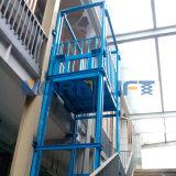 Depósito de mercadorias Hidráulico Vertical de elevação de carga de elevação