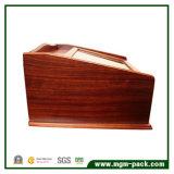 Boîte à stylo en bois à laque haute qualité avec tiroir