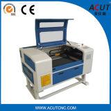 mini máquina de gravura de madeira de couro acrílica do laser do CNC do CO2 80W