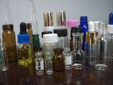 Bernsteinfarbiges Screwed Tubular Glass Bottle für Cosmetic Packing