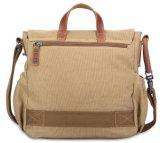 Il singolo sacchetto di inclinazione della tela di canapa dell'annata degli uomini di sacchetto della spalla della nuova tela di canapa trasporta il pacchetto di cuoio del messaggero della tela di canapa