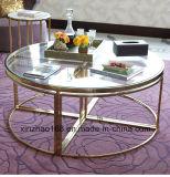 Круглый журнальный стол Tempered стекла с ногой крома