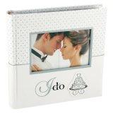 Álbum de fotografias de casamento de PU personalizados com janela para presentes